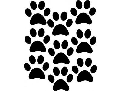 Kutya lábnyom matrica