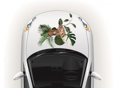 Tigris esőerdőben autó matrica
