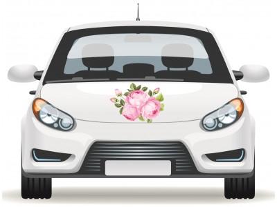 Fotó hatású rózsacsokor autómatrica