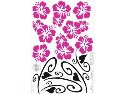 Magenta Hawaii virágos bicikli matrica