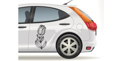 Tulipános autómatrica, fekete vagy fehér