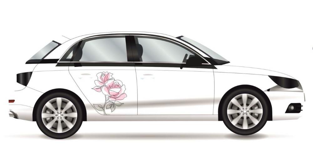 Rózsás autómatrica, színes