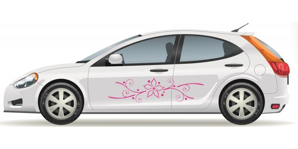 Virágos nonfiguratív autómatrica - 8 színben