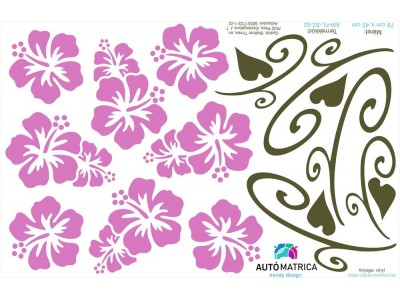 Hawaii virágos autómatrica csomag - 16 színben