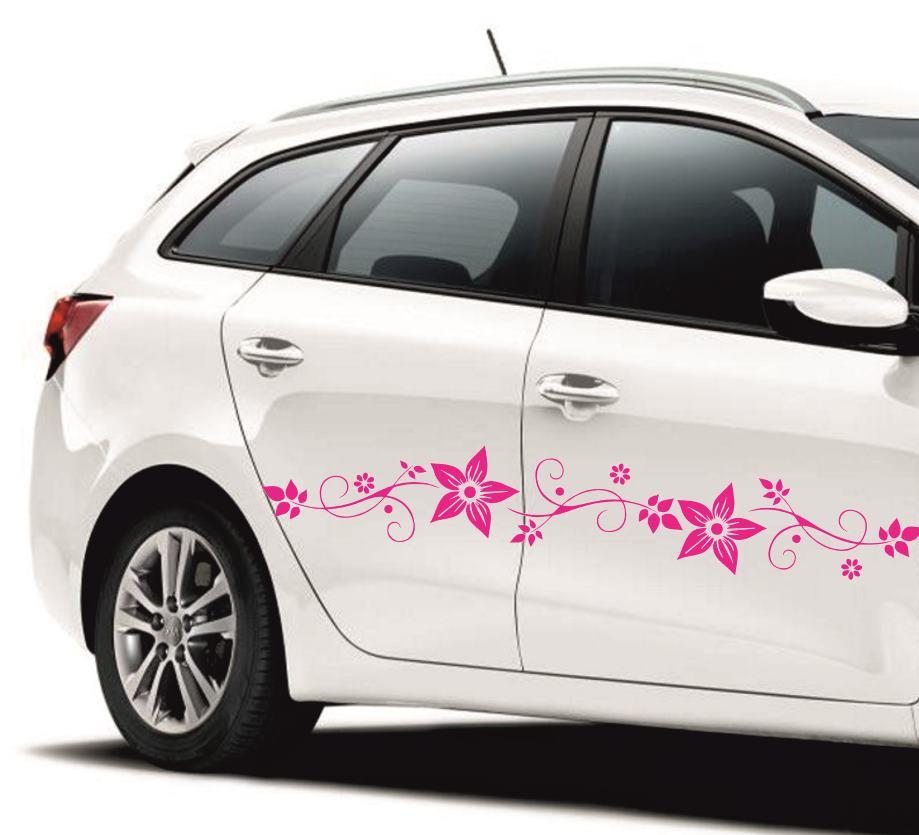virágos női autómatricák